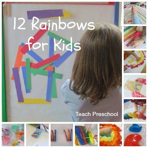 Twelve rainbows for kids to create and explore