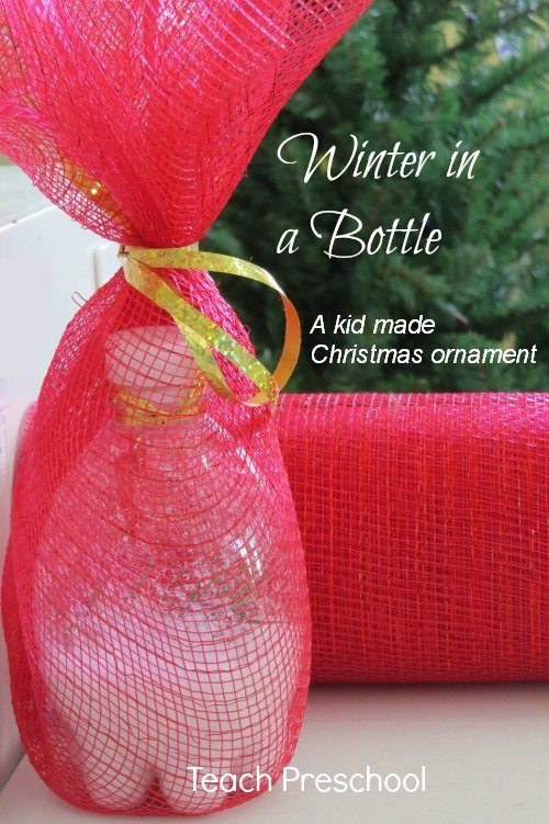 Winter in a bottle |A kid made Christmas ornament
