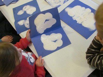 Multi-folded paint rubbings