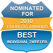 Nominated for the Best Individual Tweeter award