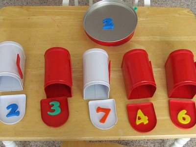Valentine mailboxes and magnets for preschool play
