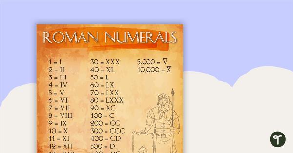 Roman Numerals Sign 1