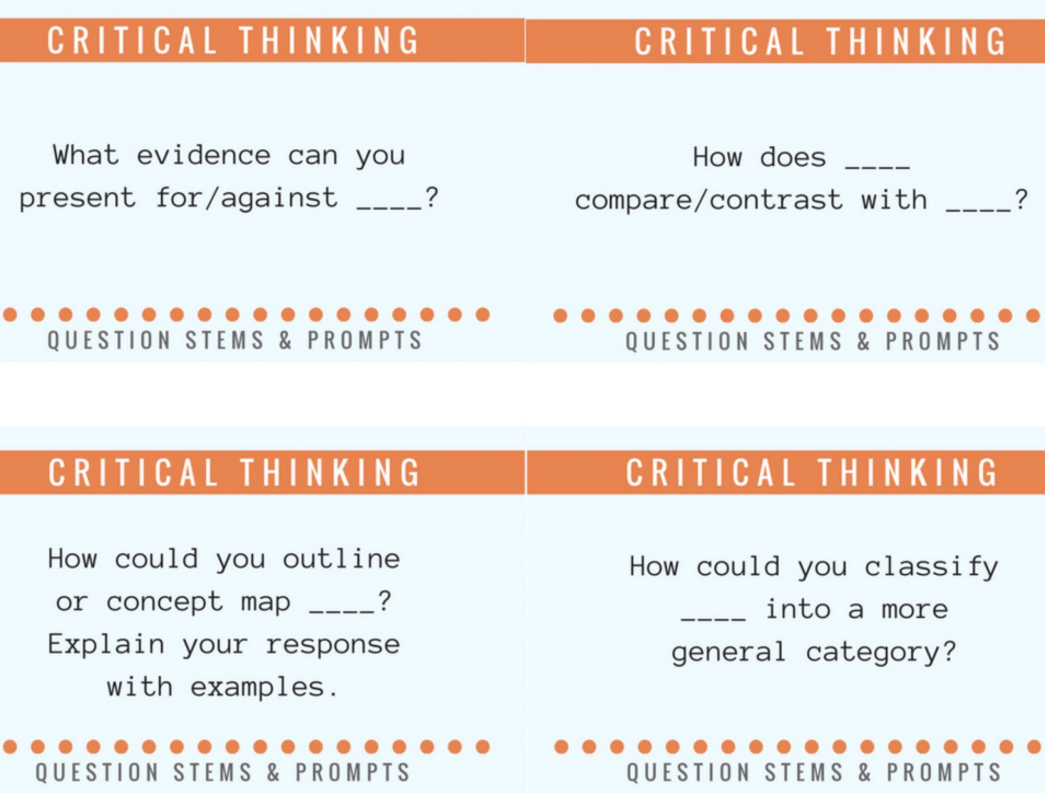 50 Questions To Help Students Think About What They Think