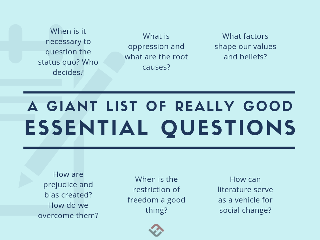 Many Many Examples Of Essential Questions