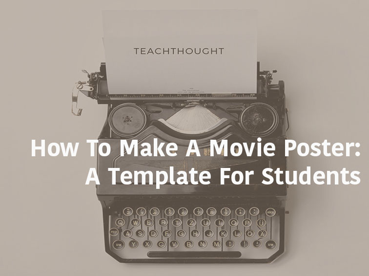 how to make a movie poster a template