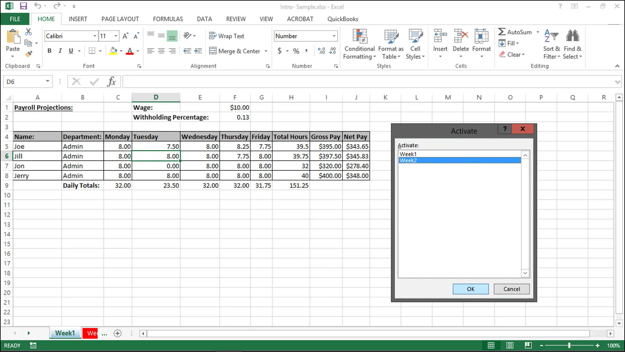 Navigating Worksheets In Excel Tutorial