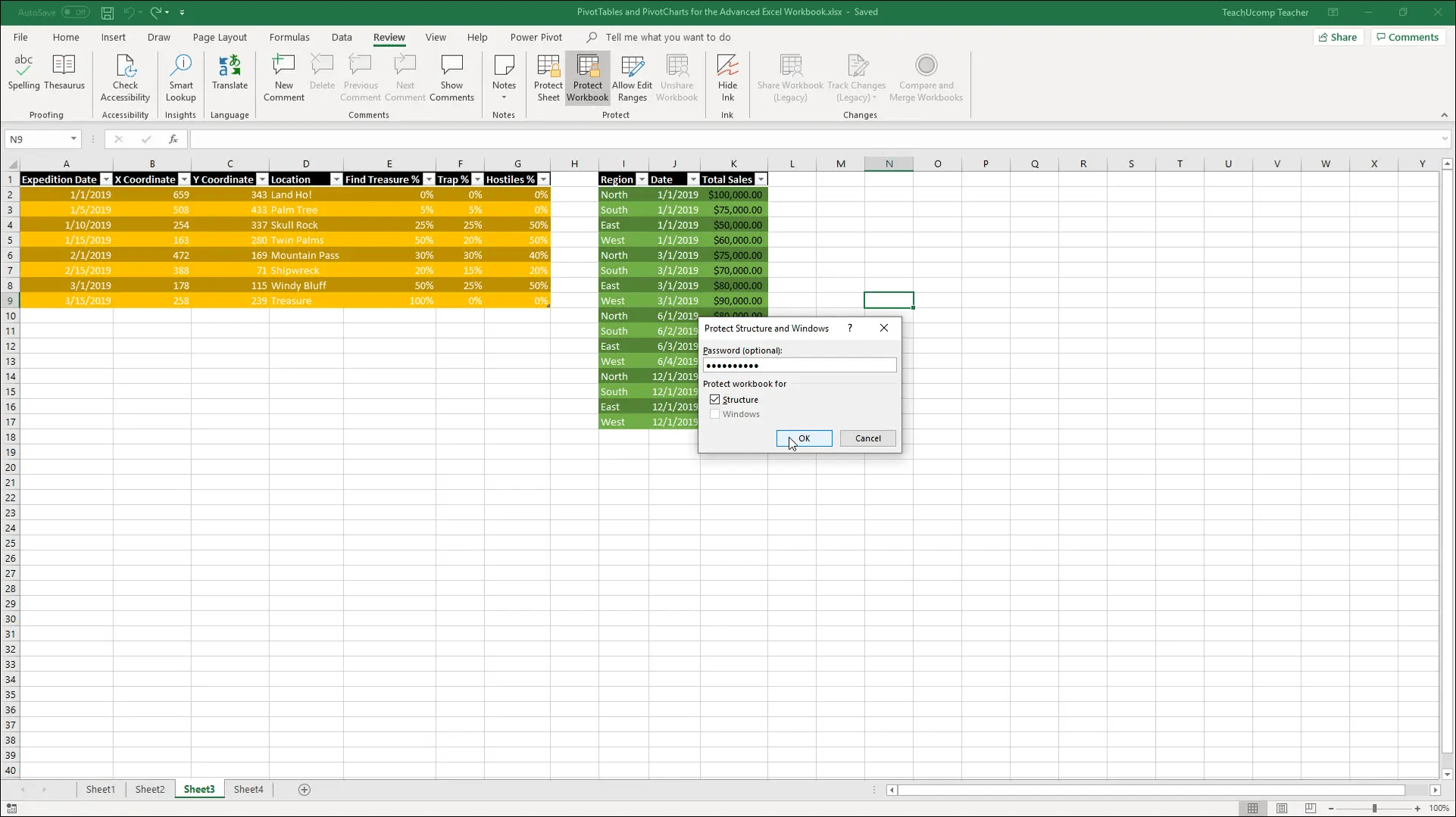 Workbook Protection In Excel Instructions