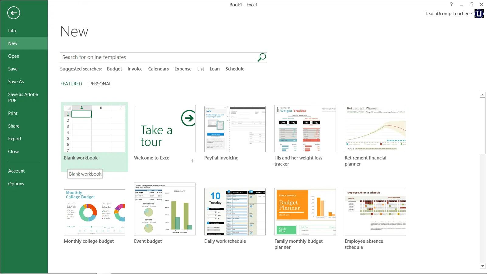 Create A New Workbook In Excel Tutorial