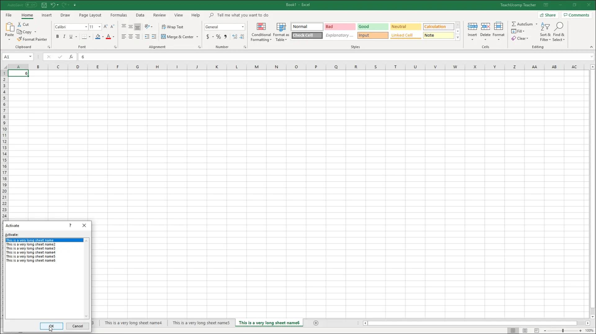 Navigating Worksheets In Excel