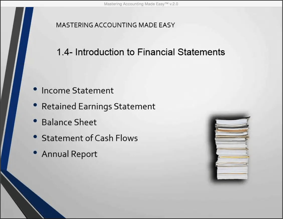 Introduction To Financial Statements Tutorial