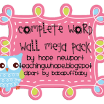 Owl Word Wall Pack Updated