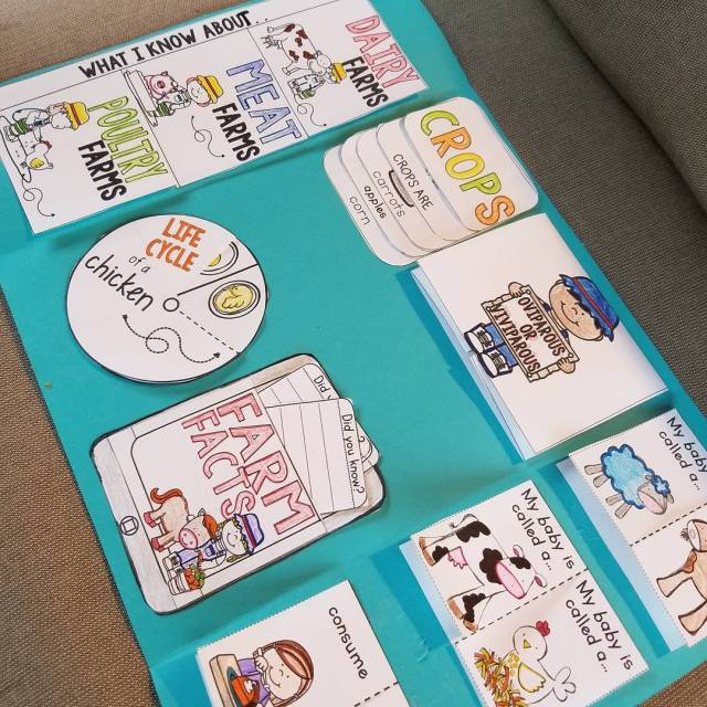 Putting this farm animal lapbook together was so much fun!hellip
