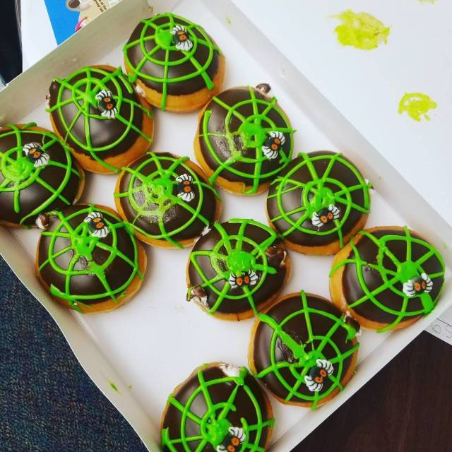 You cant study spiders without having a spider donut day!hellip