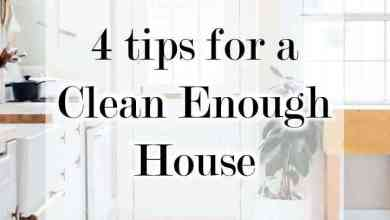 Photo of 4 Tips for a Clean Enough House