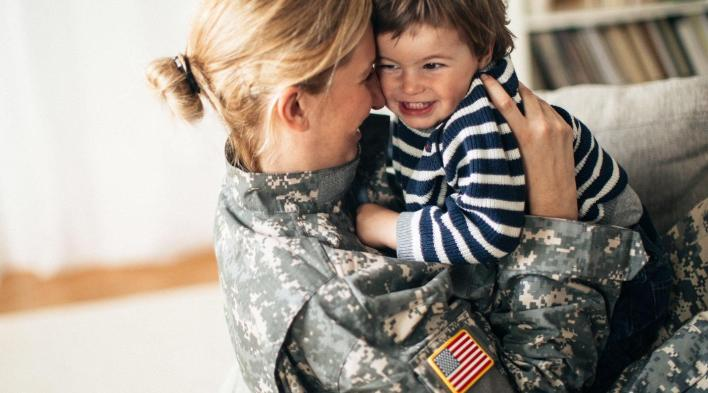 Military moms and their children