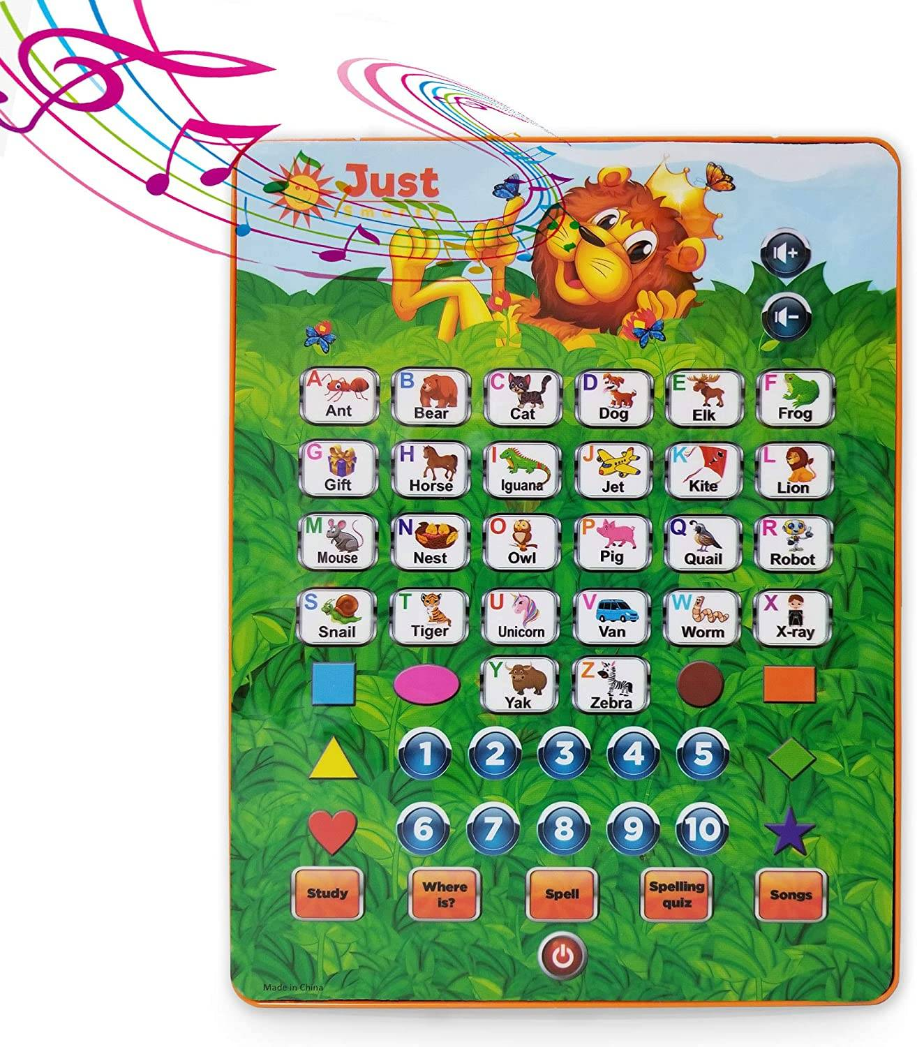 abc tablet from just smarty interactive educational toys