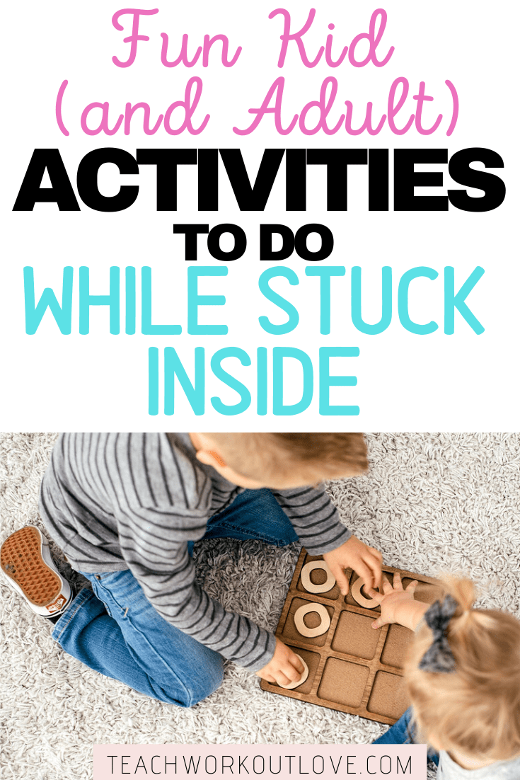 This list of activities for kids has something for every interest and age group. Discover all the activities you need to pass the time inside!