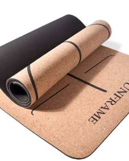Emerging Green Premium Eco Friendly Cork Yoga Mat Natural Material Yoga Mat Non Slip Yoga Mat Thick Hot Yoga Mat Alter to Jute Yoga Mat