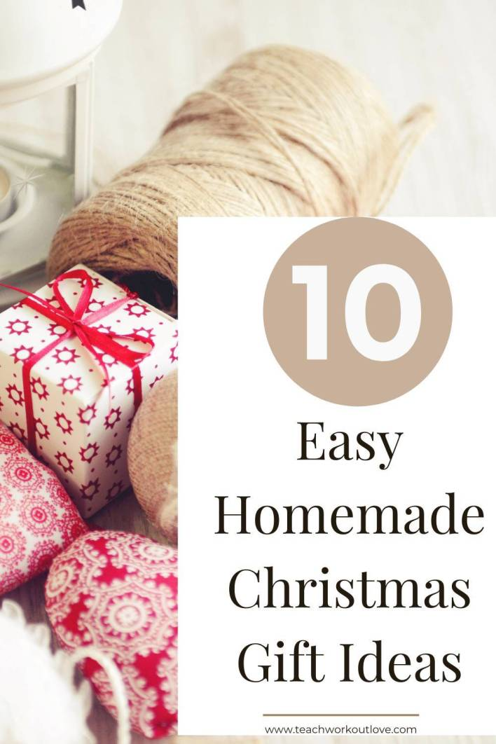 Here we have put together 10 easy homemade Christmas gift ideas. Make some creative handmade gifts for friends and family.