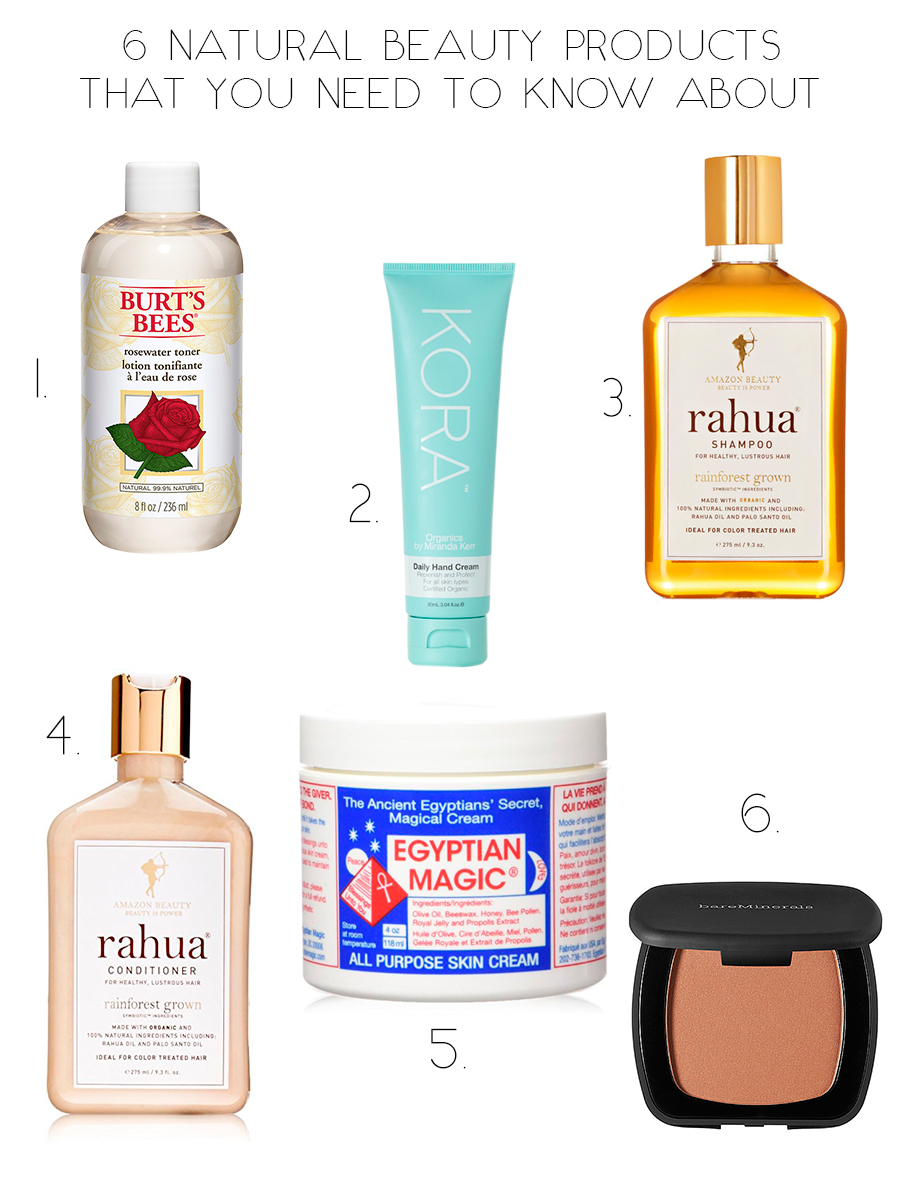 6 natural beauty products