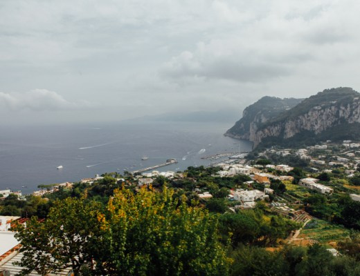View from the top of Capri
