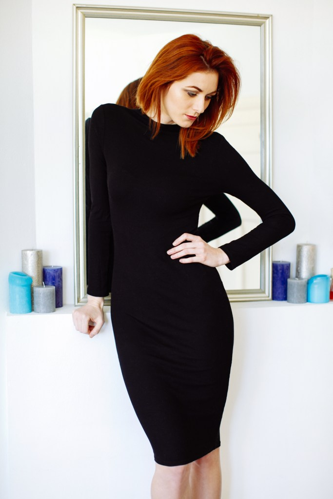 the little black midi dress