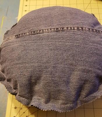 crocheted pillow back