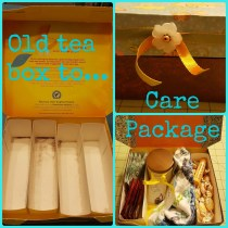 How to Turn a Tea Box into a Care Package
