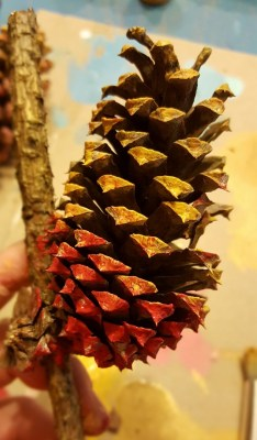 pinecone-on-stick