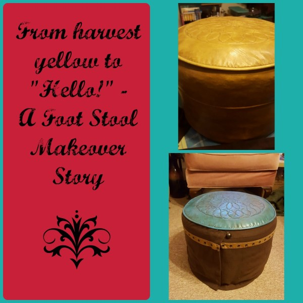 Foot Stool Makeover