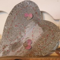metal stitched heart