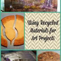 recycled materials for art
