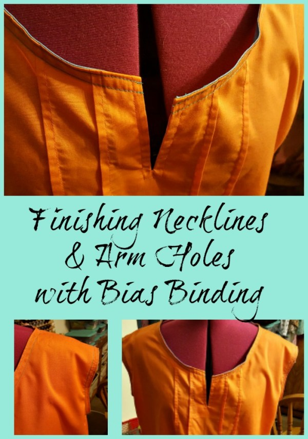 finishing necklines and arm holes