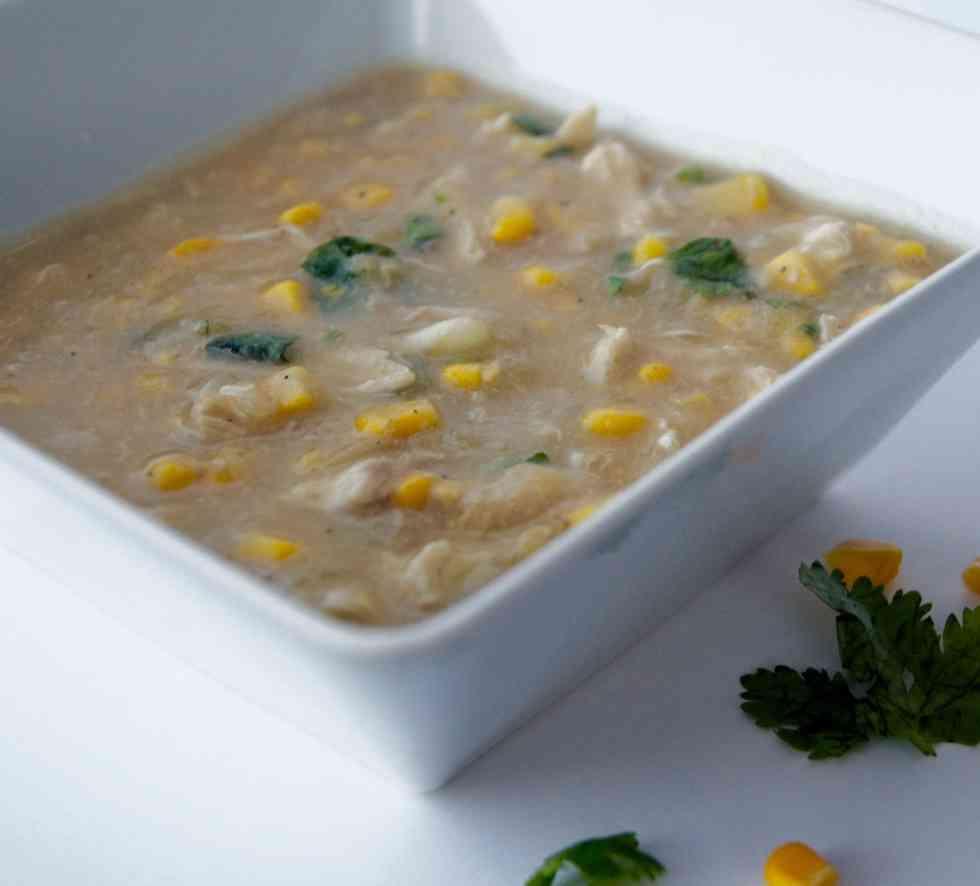 Pakistani Chinese Chicken and Corn Soup