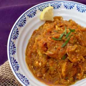 Smoked Eggplant Curry | Restaurant-Style Baingan Bharta