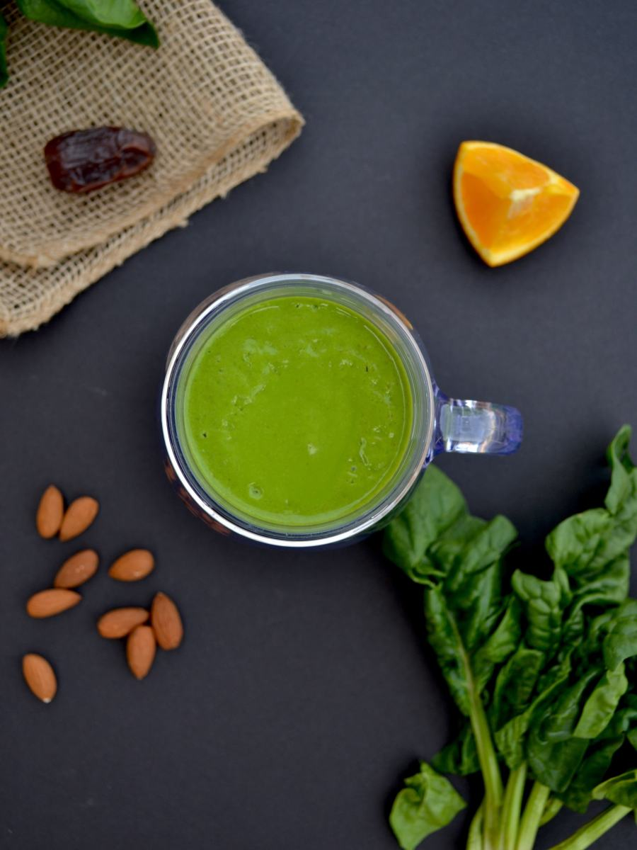 Iron-Boosting Orange Green Smoothie