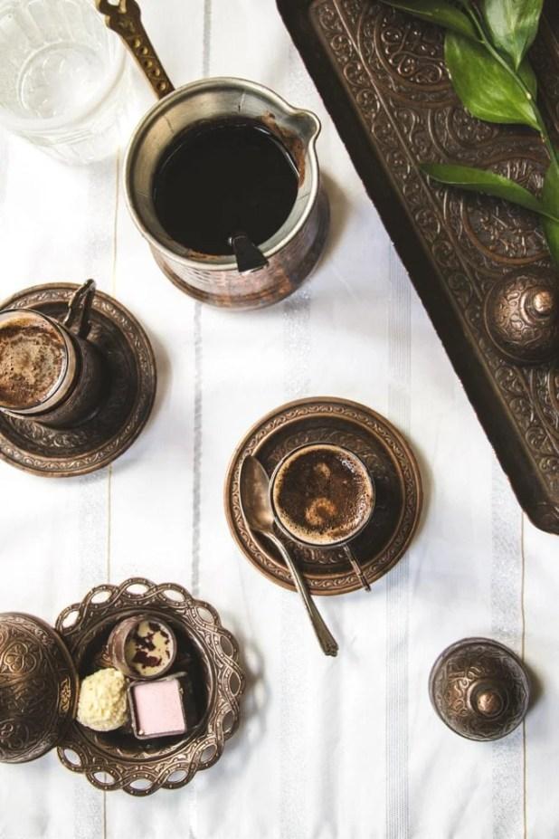 Turkish Coffee with chocolates
