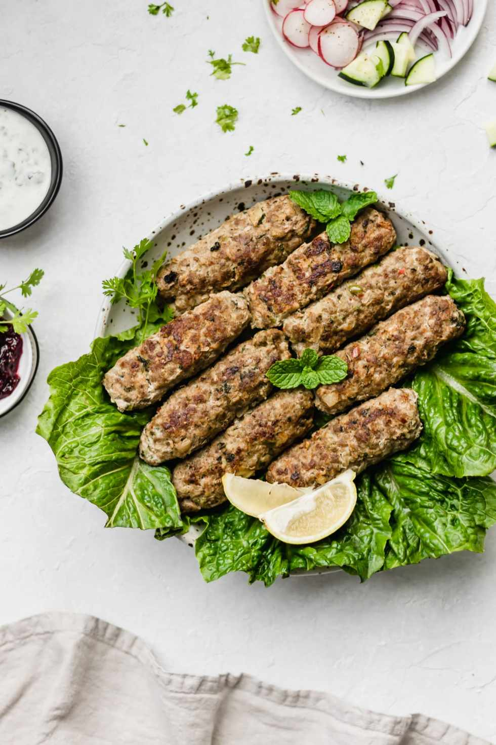 Baked Pakistani Seekh Kabob (Ground Beef Skewers)