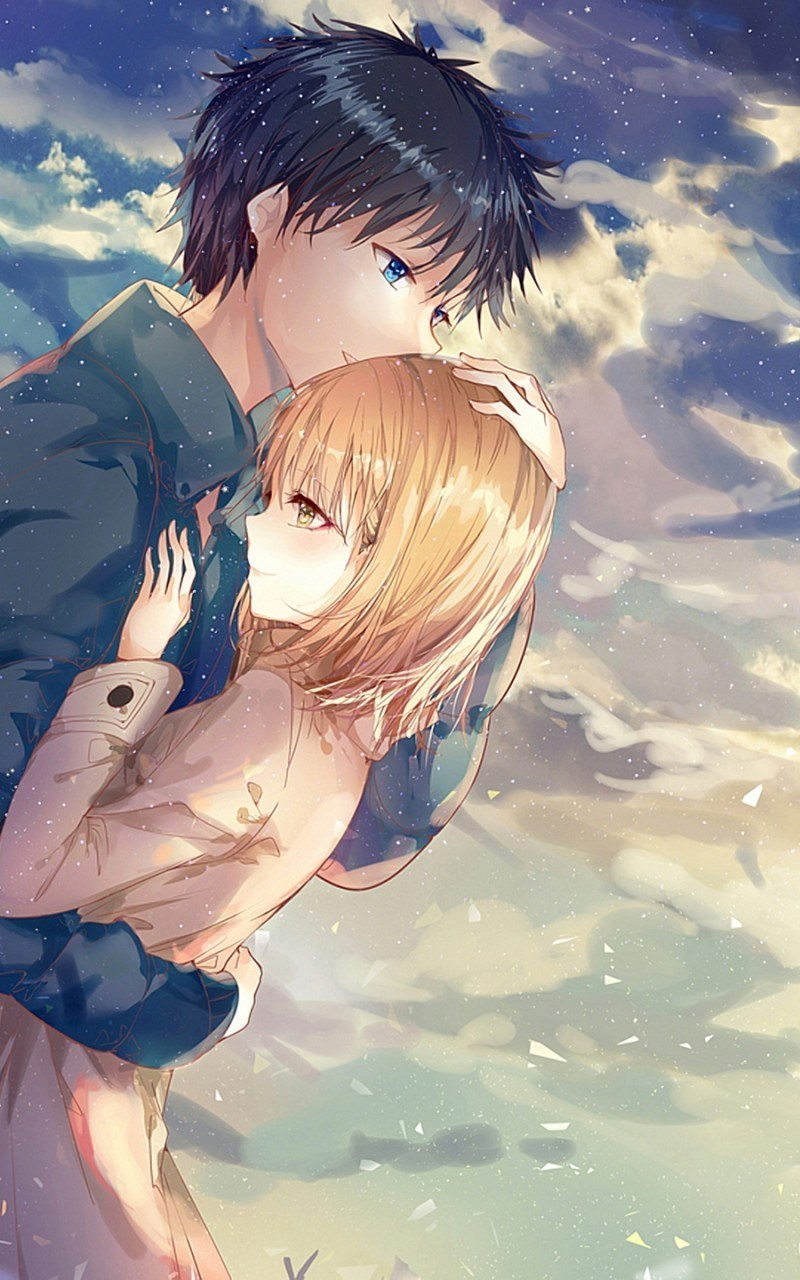 Cute Anime Couple Wallpaper Iphone 800x1280 Wallpaper Teahub Io
