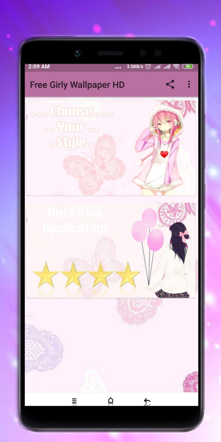 Girly Wallpaper Apps For Android Lovely Free Girly Cartoon 717x1434 Wallpaper Teahub Io