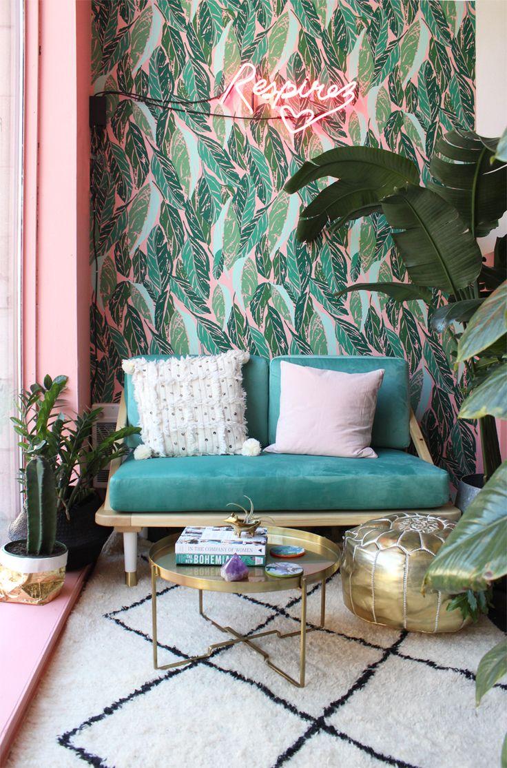 Best 25 Office Wallpaper Ideas On Pinterest Spare Room Pink Tropical Bedroom Ideas 736x1115 Wallpaper Teahub Io