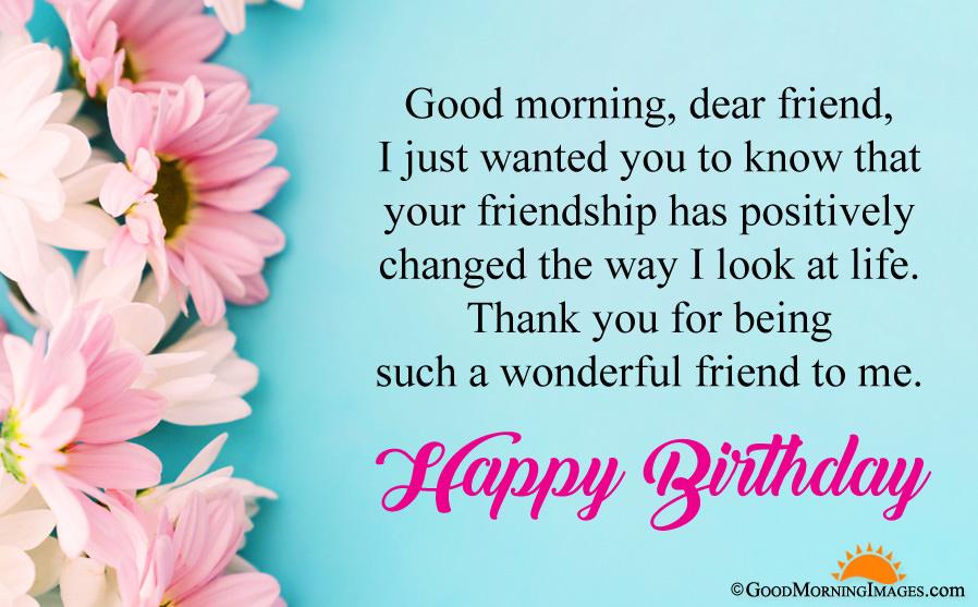 Good Morning Happy Birthday Greeting Wishes Wallpaper Quotes 898x557 Wallpaper Teahub Io