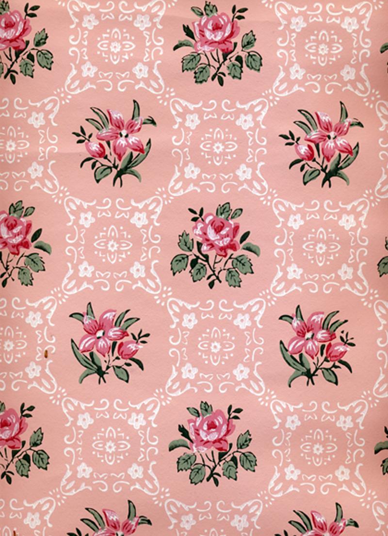 Vintage Floral Wallpaper Vintage Wallpaper Pink Flowers 800x1105 Wallpaper Teahub Io