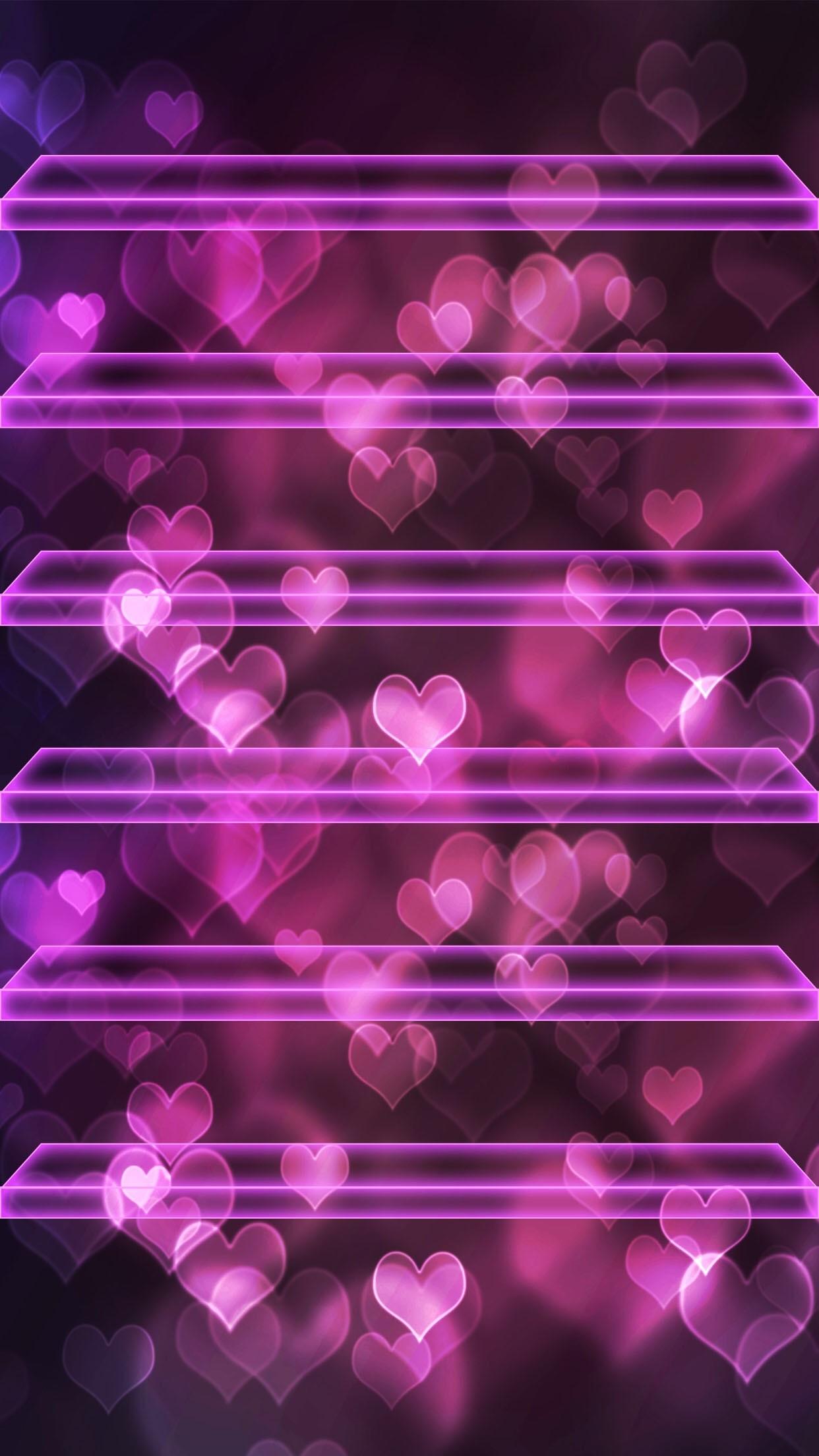 A A Tap And Get The Free App Shelves Hearts Bokeh Girly Wallpaper Ipad Mini 1242x2208 Wallpaper Teahub Io