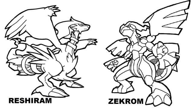 Zekrom Pokemon Coloring Page - 17x17 Wallpaper - teahub.io