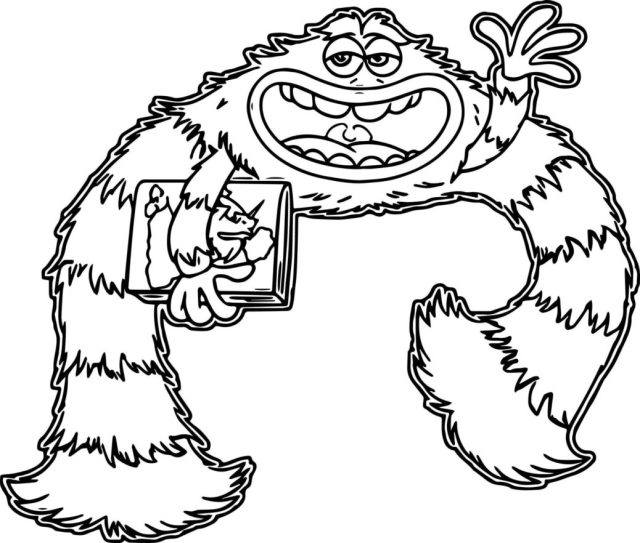 Love Sulley Coloring - Monsters Inc Character Coloring Page