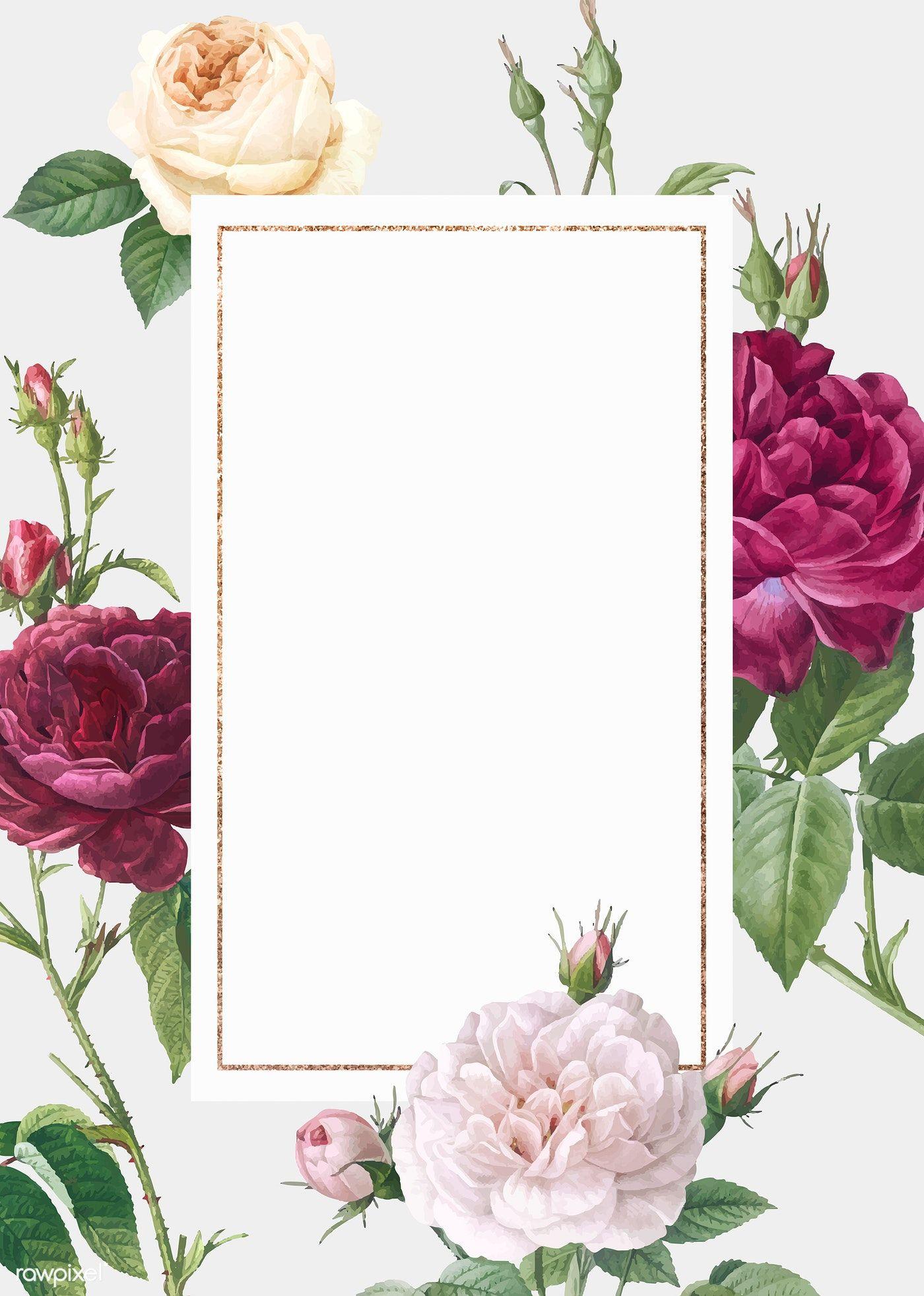 wedding card flower design png