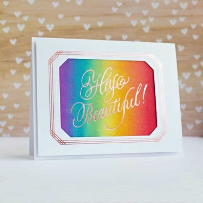 Hello Beautiful: Spellbinders PA Scribe Glimmer Plates