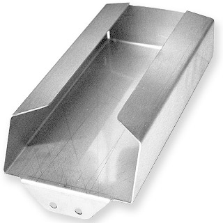 Paper towel holder in stainless steel