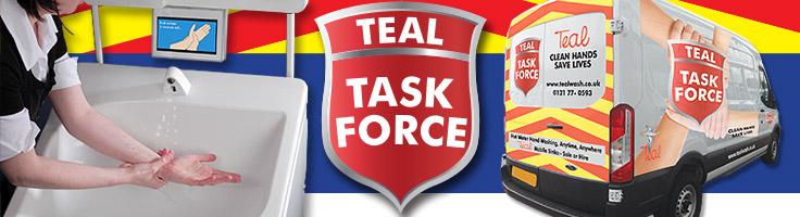 Teal Task Force mobile hand washing